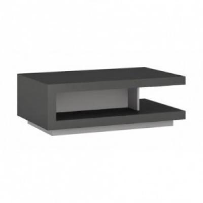 Dohányzóasztal szürke, 106x68 cm - BERIL
